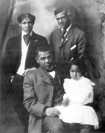 Booker t washington and his family