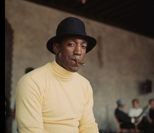 Bill Cosby Smoking a Cigar