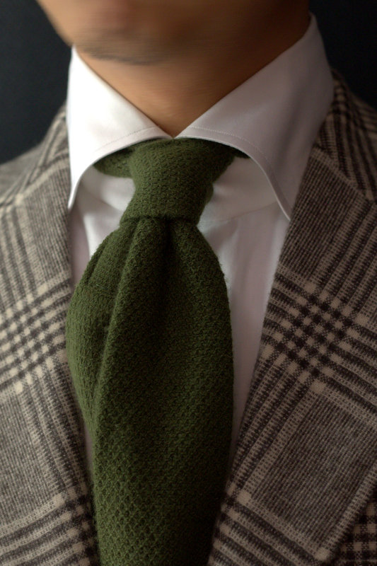 Style Amp Substance Brown Checked Blazer Amp Green Knit
