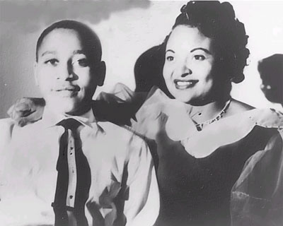 Emmett Till and his mother, Mamie Bradley