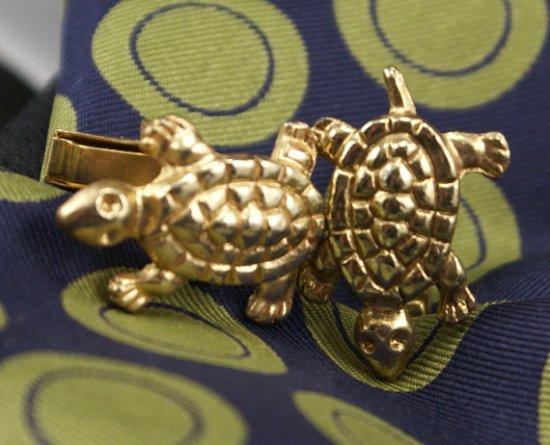 Vintage Turtle Cuff Links