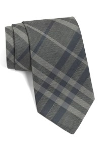 Burberry Gray & Blue Necktie
