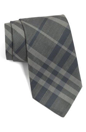 Burberry Gray & Blue Necktie