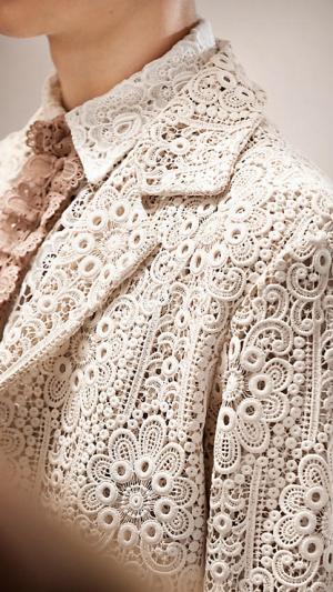 Burberry Crochet Lace Coat