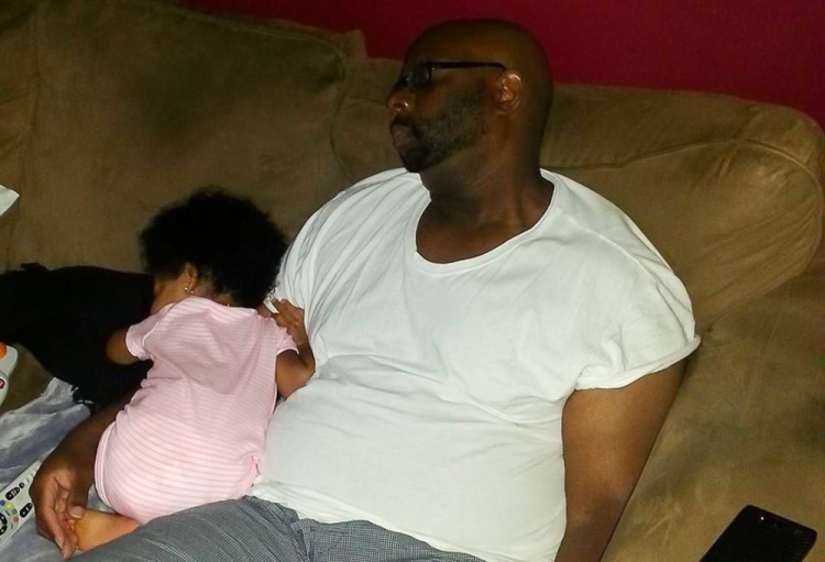 Dad & Daughter Sleep